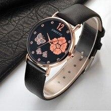 2018 New Fashion Women Luxury Quartz Watch PU leather Rhines