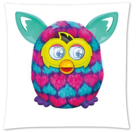 Custom Furby With A girl Fashion Style Cotton Zippered Linen Decorative  Single Pillow Case Standard Size 45x45 cm(Twin Sides)