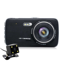 Car DVR Camera Dashcam Dual Lens With ADAS Rear View Front Car Distance Warning Full HD