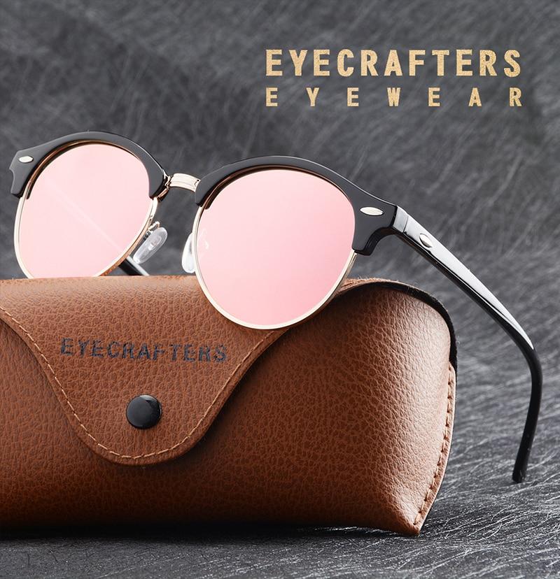 d312b29aaa New Polarized Round Sunglasses Mens Womens Brand Designer Club Round ...