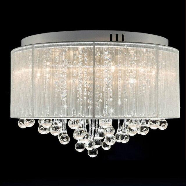 MAMEIFree Verschiffen Unterputz Luxus Zeitgenössische Trommel Decke Kronleuchter  Leuchten Zylinder Lampenschirm Für Schlafzimmer