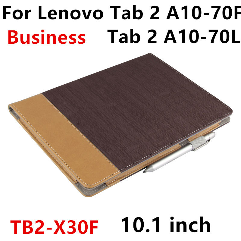 Case For Lenovo Tab 2 A10-70 70F L 10.1 Smart cover Leather Protective Tablet For TB2-X30F X30M 10.1inch PU Protector Sleeve ultra thin smart flip pu leather cover for lenovo tab 2 a10 30 70f x30f x30m 10 1 tablet case screen protector stylus pen