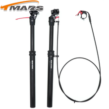 Tmars Dropper Seatpost Adjustable Height 27.2mm Remote Control Manual Hand Mechanical Bike MTB 28.6 30.1 30.4 30.9 31.6 110mm