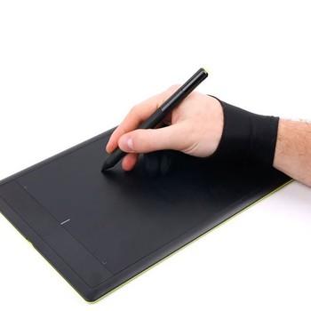 Black 2 finger anti-zanieczyszczenia zarówno dla prawej jak i lewej ręki rysunek artystyczny rękawiczki dla każdego Tablet graficzny do rysowania czarny S M L rozmiar tanie i dobre opinie Rysunek Przechowywania Rolki i Torby free size piece 0 03kg (0 07lb ) 8cm x 5cm x 2cm (3 15in x 1 97in x 0 79in)