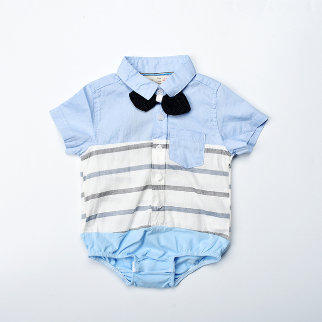 c1bb7ed72 Baby boy romper 2018 summer striped baby clothes short sleeve ...