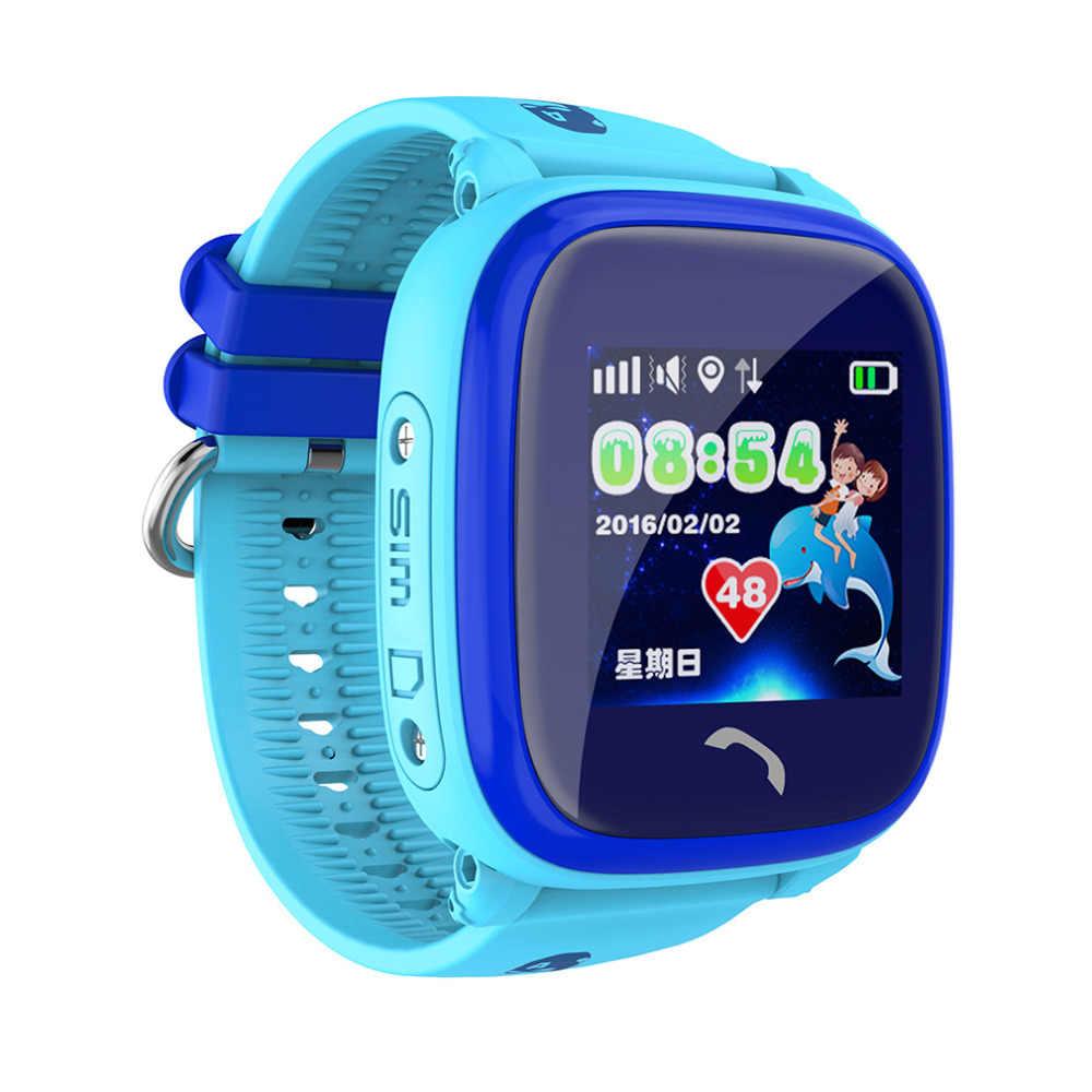 DF25 Child Smartwatch Swim IP67 GPS touch phone smart watch SOS Call Location Device Tracker Kids Safe Anti-Lost Monitor PK Q50