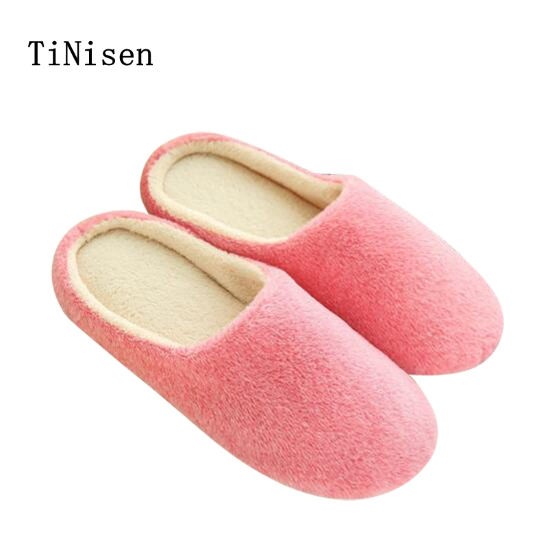 2018 womens indoor slippers Soft Plush Cotton Cute Slippers Shoes Non-Slip Floor Indoor House Home Furry Slippers Women Shoes women floral home slippers cartoon flower home shoes non slip soft hemp slippers indoor bedroom loves couple floor shoes