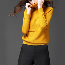 2017 Winter New Arrived Square Design Pullover Soft Plus Size Women Turtleneck Sweaters Women Pile Heap Collar Cashmere Sweater
