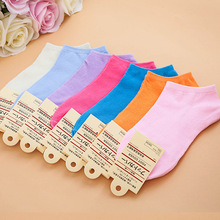 2016 Fashion Contrast Color Grid Pattern Slippers Socks For women Ankle Socks womens Casual Socks Spring Autumn Wholesale