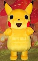 2017 Nuova Vendita Calda Movie Character Pikachu Gonfiabile Costume Della Mascotte di Halloween Partito Prestazioni Costume Del Fumetto Per Adulti