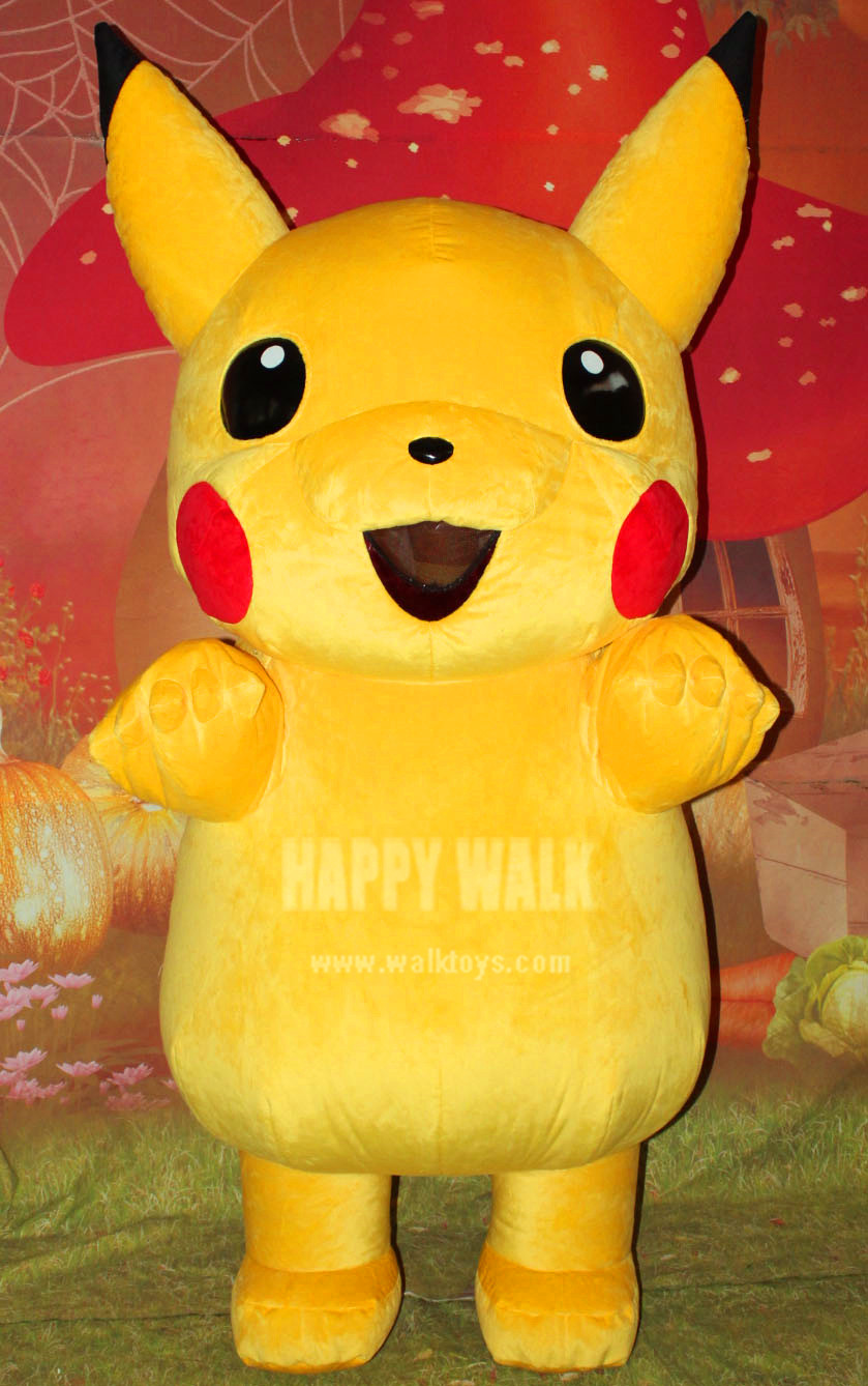 2018 New Hot Selling Movie Character Pikachu Inflatable Mascot Costume Halloween Party Performance Cartoon Costume For Adults