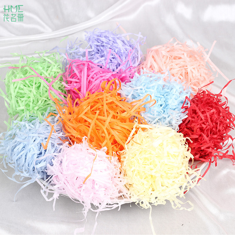 100g/bag Paper Raffia Shredded Crinkle Paper Confetti Gifts/Box Filling Material Birthday Wedding DIY Party Decoration Supplies
