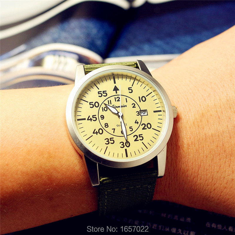Top Brand Unisex Nylon Calendar Army Watches Women Man Fashion Casual Lady Dress Gift El Reloj Watch