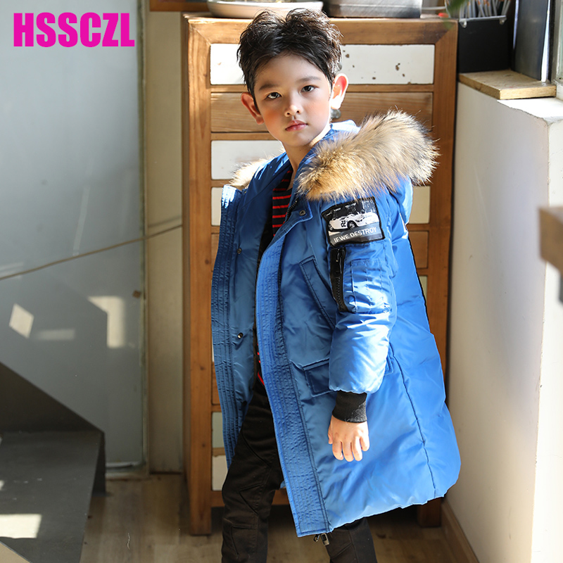 HSSCZL Boys Down Jackets 2017 Brand children winter Thicken Hooded Big Boy long Down Coat Outerwear Overcoat Child parkas 7-16A casual 2016 winter jacket for boys warm jackets coats outerwears thick hooded down cotton jackets for children boy winter parkas