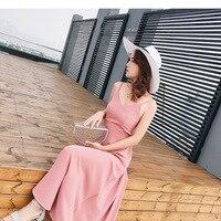 Vestido Longo Sale Solid Plus Size Maxi Dress New Special Women Free Shipping 2019 Korean Women's Summer Dresses Vacations Slim