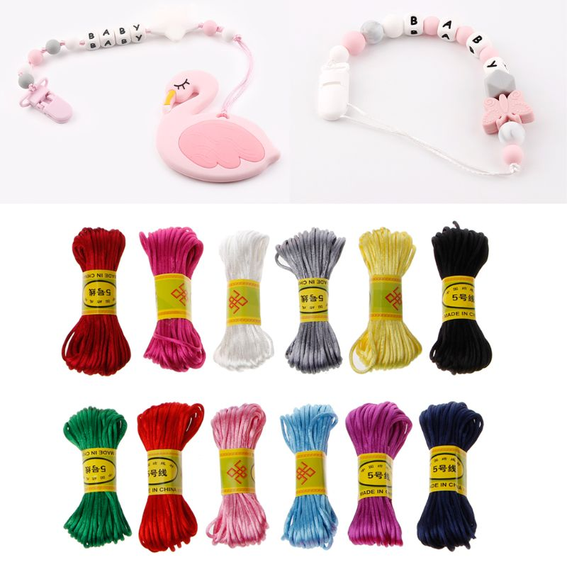 10m Soft Satin Nylon Solid Rope For Jewelry Making Beading Cotton Cord For Baby 2.5mm DIY Necklace Pendant Nov3-A