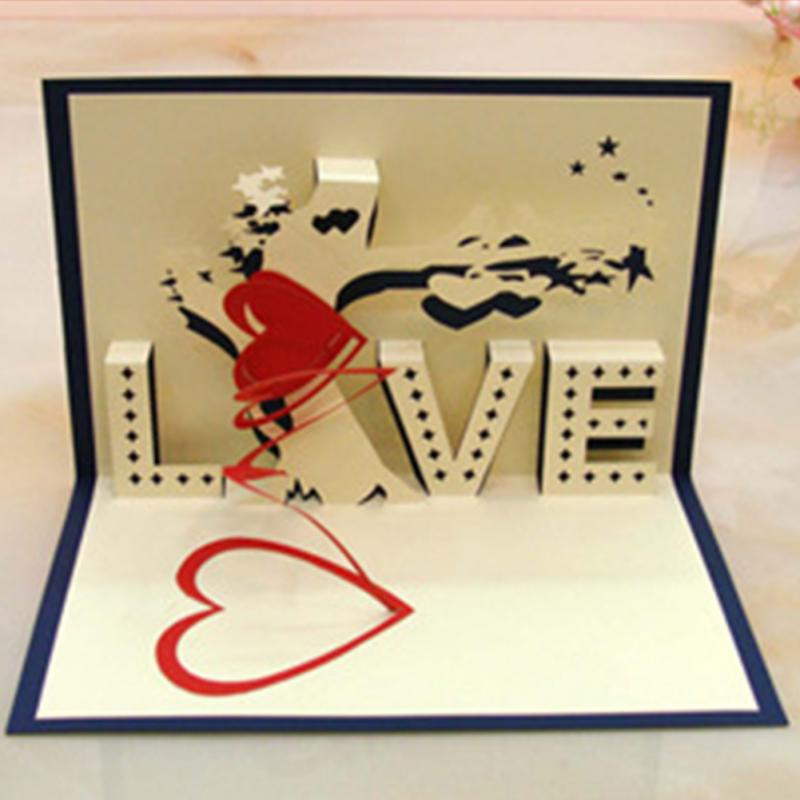 Greeting Card 3d Pop Up Cards Love Tree Heart Valentine Lover Happy