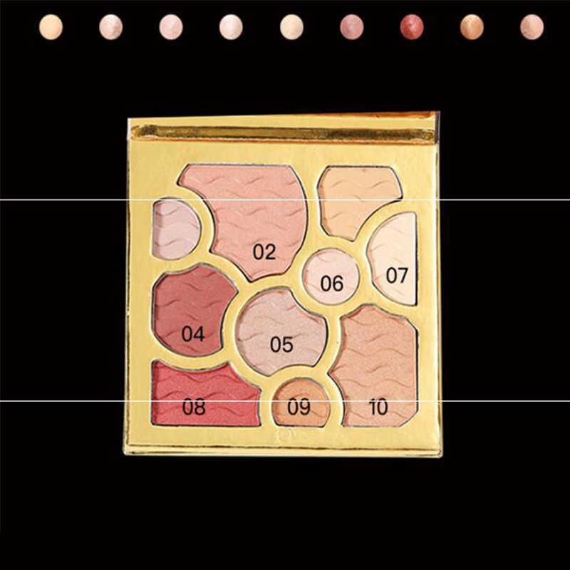Палитра теней для век матовые нюдовые Сияющие пигментированные тени для век Палитра осветляет естественные тени для глаз цвет с зеркалом