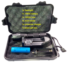aluminum alloy powerful flashlight zoomable 3800LM xml l2 led torch light,1pc 18650 battery,1pc EU/US charger,1pc black gift box