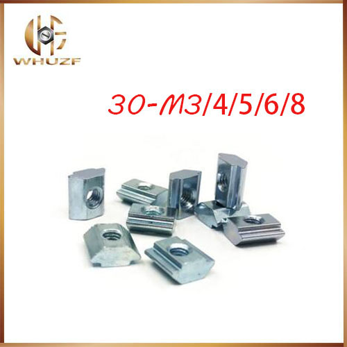 Square Nuts Block T Track Sliding Hammer For Fastener Aluminum Profile Metalwork