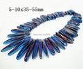 Aproximadamente 58 unids / strand Rainbow Blue Mystic Titanium AB Crystal Point cuarzo, cristal de roca corte se pega pendiente cristalino de la joyería