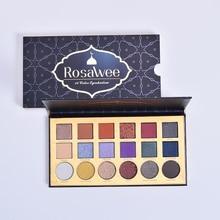 ROSAWEE 18 Color Glitter Eyeshadow Palette Professional Shimmer Matte Eye Shadow Makeup Women Beauty Gift Powder