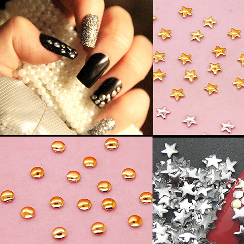 5pcs Glitter Rhinestones On Nails Art Decoration Stones For Decor Studs Female Women Nail Design Stickers