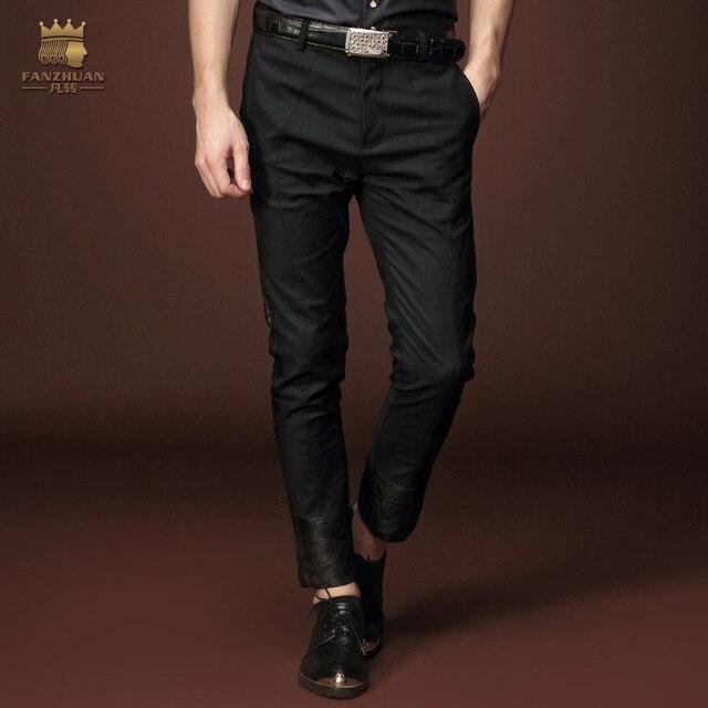 2019 Spring Summer Autumn Casual Flare Leg Boot Cut Jeans Men Slim Jeans High Fashion Men