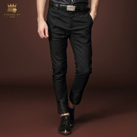 FANZHUAN brand Free shipping designer men's male New summer thin Slim Korean black cropped pants trousers personality 15824