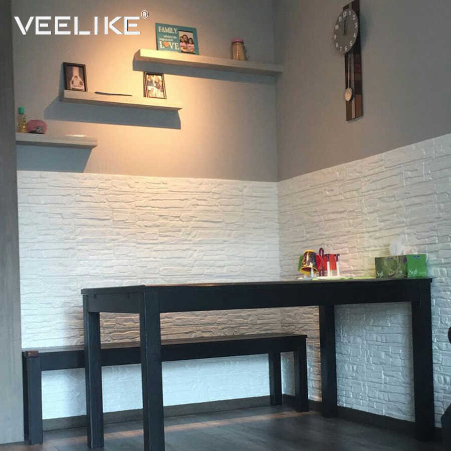 Pe Foam Wall Panel Kitchen Brick Stone Waterproof Self Adhesive Wallpaper For Kids Bedroom Living Room Papers Home Decor