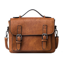 Retro Crossbody Bags Fashion Women Messenger Bags Vintage PU Leather Preppy Satchel for Girls Small New Adolescent Brand Handbag