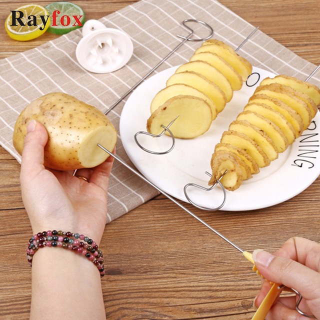 Kitchen Accessories Tornado Potato Spiral Cutter Slicer Potato Shredder Fried Potatoes Cozinha Cooking Tools Kitchen Gadgets