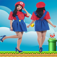 Halloween COSPLAY Costumes Super Mary Costumes Female Models Girls Women Clothing European And American Game Cosplay