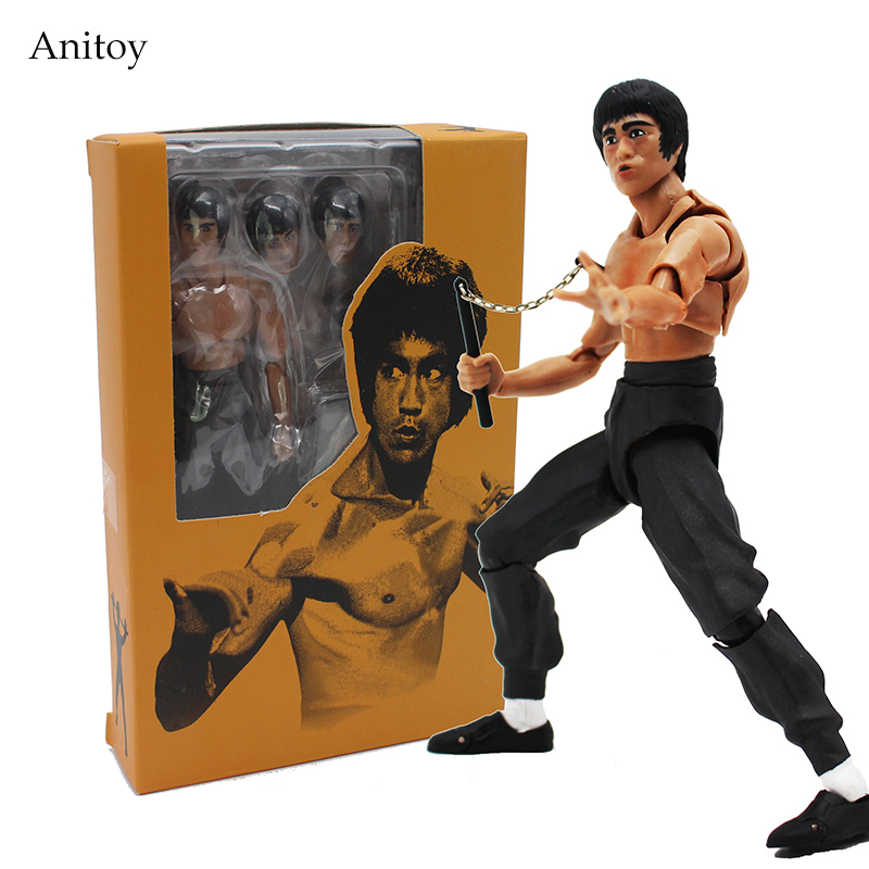 Cool Bruce Lee Kung Fu PVC Action Figure Collectible Model Toy 13.5cm KT4234 movie kung fu panda 3 po bobble head car toys pvc figures collectible model gift 4 10cm kt1896