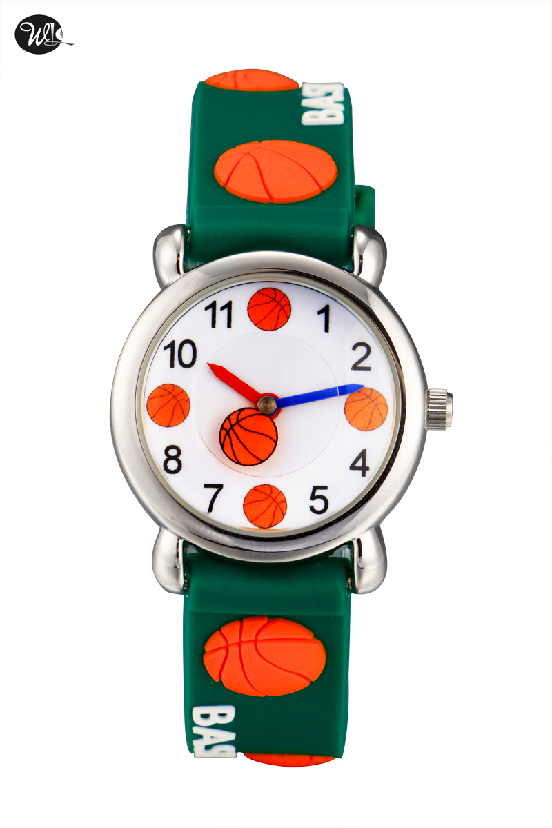Children's Gift Watch Quartz 3D Strap Cartoon Basketball Watch Pointer Fashion Electronic Waterproof Watch Children's Watch
