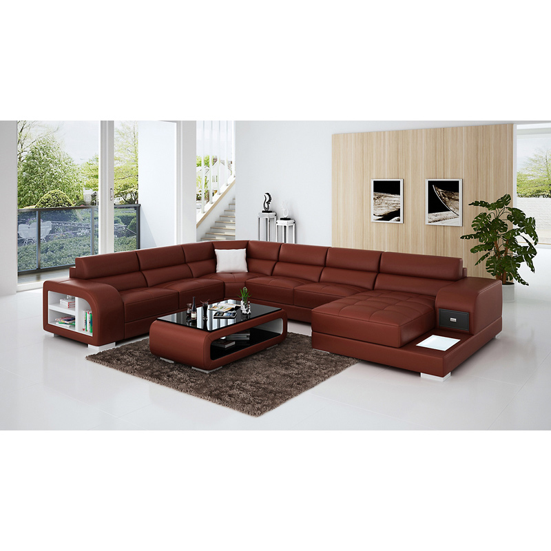 US $1550.0 |living room furniture luxury antique style leather corner sofa  set-in Living Room Sofas from Furniture on AliExpress