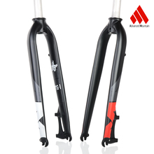 AM TG-1 Mtb Fork Aluminum 6061 Bicycle Fork 26/ 27.5/29 Disc Brake Rigid Bike Fork Bike Parts ztto aluminum alloy mtb bicycle rigid fork for 26 27 5 29 mountain bike disc brake straight tube forks 9mm quick release parts