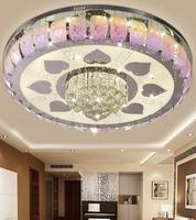 Minimalista moderno LED crystal luz de techo sala de estar de lujo lámpara luz cálida lámpara de estudio dormitorio comedor colgante luz ZH