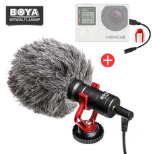Фотография BOYA BY-MM1 Shotgun Video Microphone Youtube Live Streaming Vlogging for iPhone Android Smooth Q DJI Canon Nikon Camera Gopro
