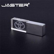 JASTER TOYOTA kristall + metall USB flash drive usb stick 4GB 8GB 16GB 32GB 64GB 128GB Externe Speicher memory stick USB 2.0
