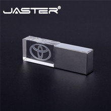 Jaster 도요타 크리스탈 + 금속 usb 플래시 드라이브 pendrive 4 기가 바이트 8 기가 바이트 16 기가 바이트 32 기가 바이트 64 기가 바이트 128 기가 바이트 외부 스토리지 메모리 스틱 usb 2.0
