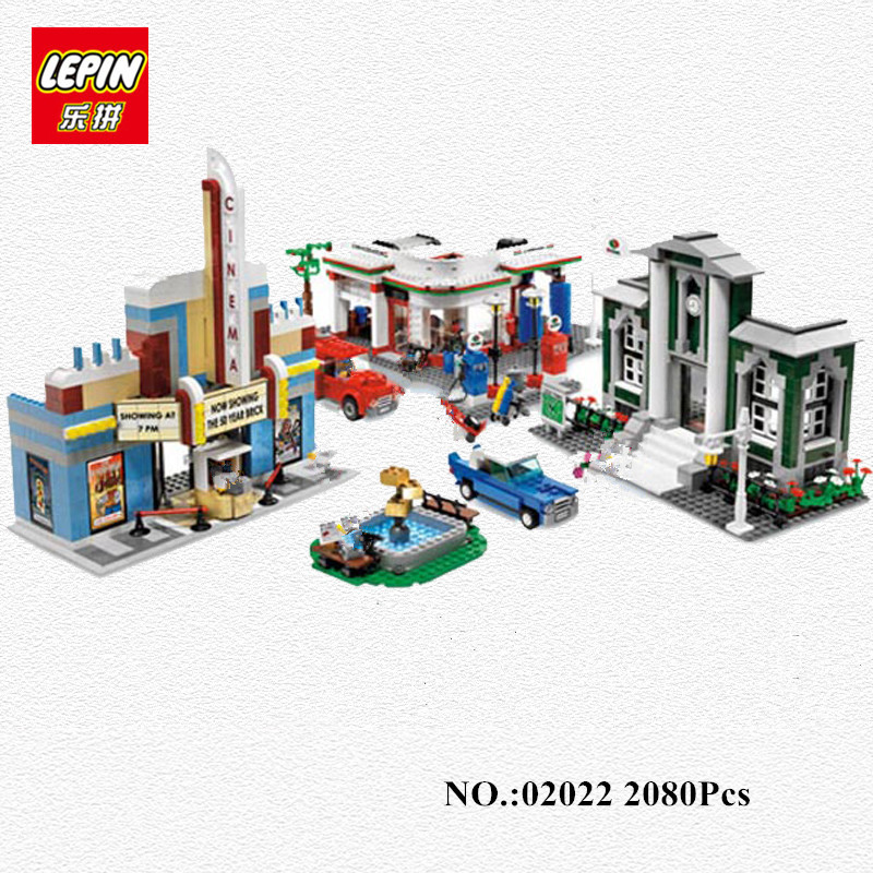IN STOCK LEPIN 02022 2080pcs City 50th Anniversary Town Building Blocks Bricks educational Toys children Gifts Compatible 10184 waz compatible legoe city lepin 2017 02022 1080pcs city 50th anniversary town figure building blocks bricks toys for children