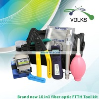10 In 1 Fiber Optic FTTH Tool Kit With FC 6S Fiber Cleaver 50 26dBm Optical