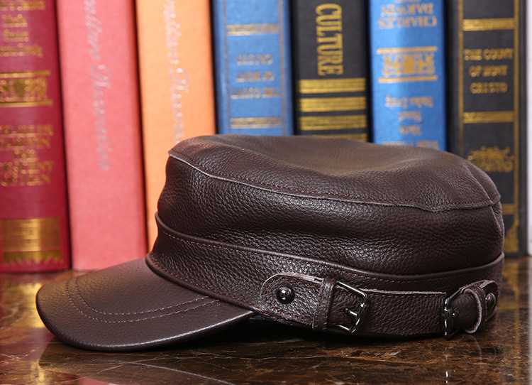 Outdoor natural leather cap (11)