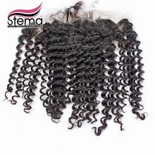 Stema Hair 4×13 Indian Deep Wave Lace Frontal Closure Free Part With Baby Hair Unprocessed Indian Hair Ms lula Hair