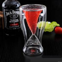 Double layer Glass cup Fish,Heat insulating teapot,Heat Resistant Glass Wine Coffee Juice Dinkware,Home office Bar Party Gifts