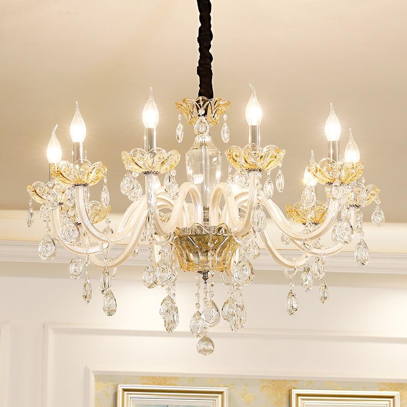 Modern Crystal Chandeliers Home Lighting lustres de cristal E14 Candle Chandelier Pendants Living Room Indoor Lamp kroonluchter цена 2017