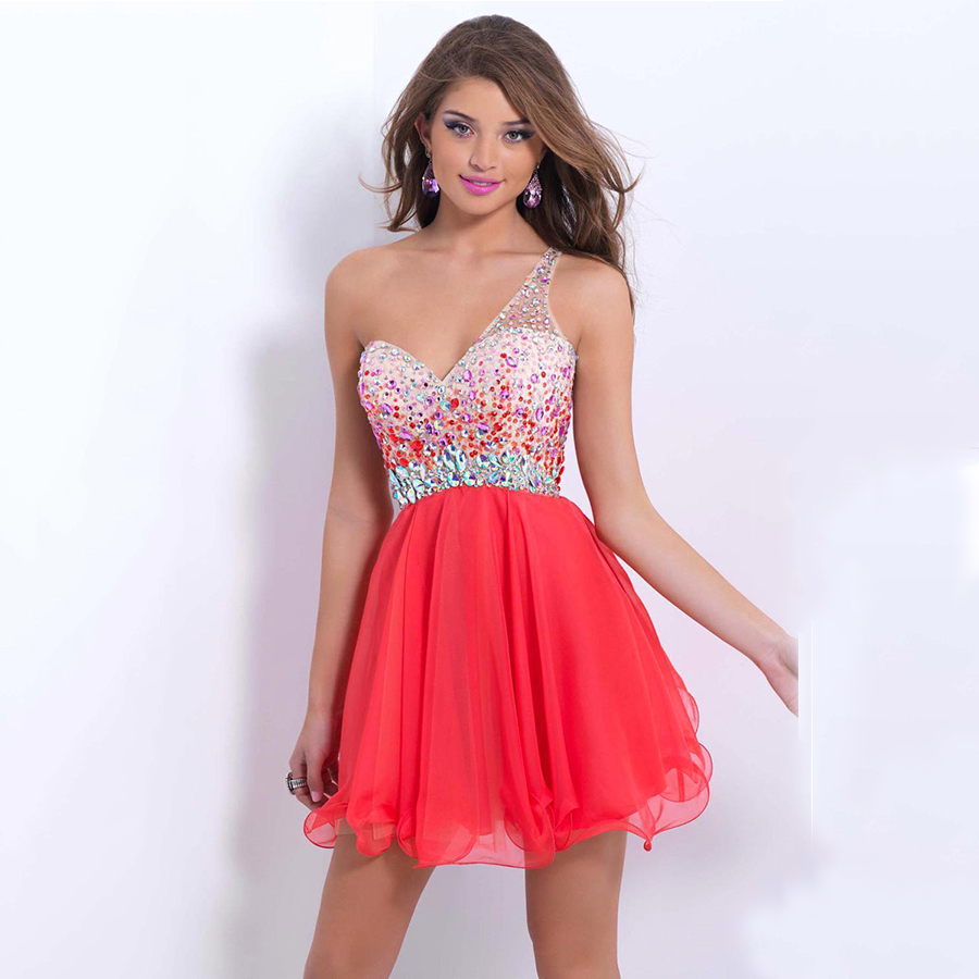 Popular Coral Homecoming Dresses-Buy Cheap Coral Homecoming ...