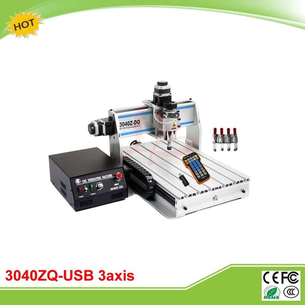 3040Z-DQ USB 3 axe 300 W mini CNC graver machine grinder avec mach3 télécommande