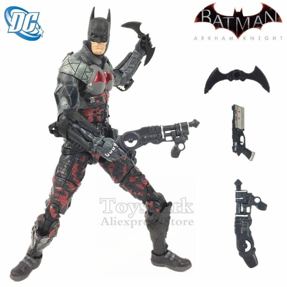 """NUOVO Batman Arkham Cavaliere 7 """"Action Figure Batarang DC Collectibles Asilo ROSSO Corpo CAPPA Bat Man Giocattoli Bambola Modello ko delle NECA Allentato"""